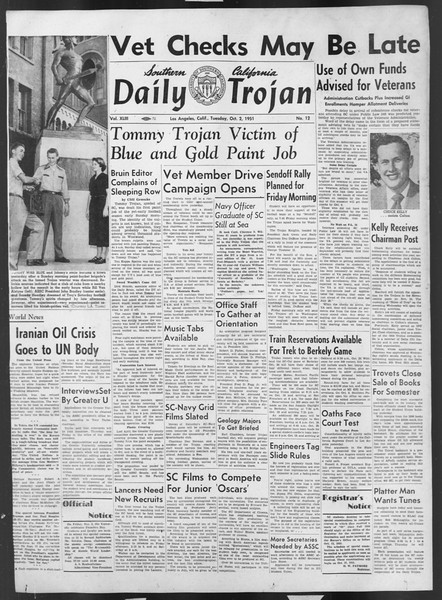 Daily Trojan, Vol. 43, No. 12, October 02, 1951