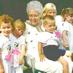 Aug. 17, 1996. Skinner reunion, Barrington, IL. Erin Saal, Shawna & Margaret & Scott & Kristi Skinner, Julie Saal.jpg