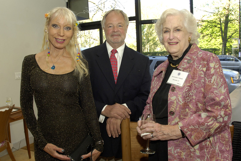 Ulla Plougmand, keynote speaker Bryan Sykes, and councilor Meriwether Schmid.