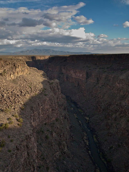 5/24 - after dinner we drove to the Rio grande Gorge bridge.  Here is the gorge as seen from the bridge.