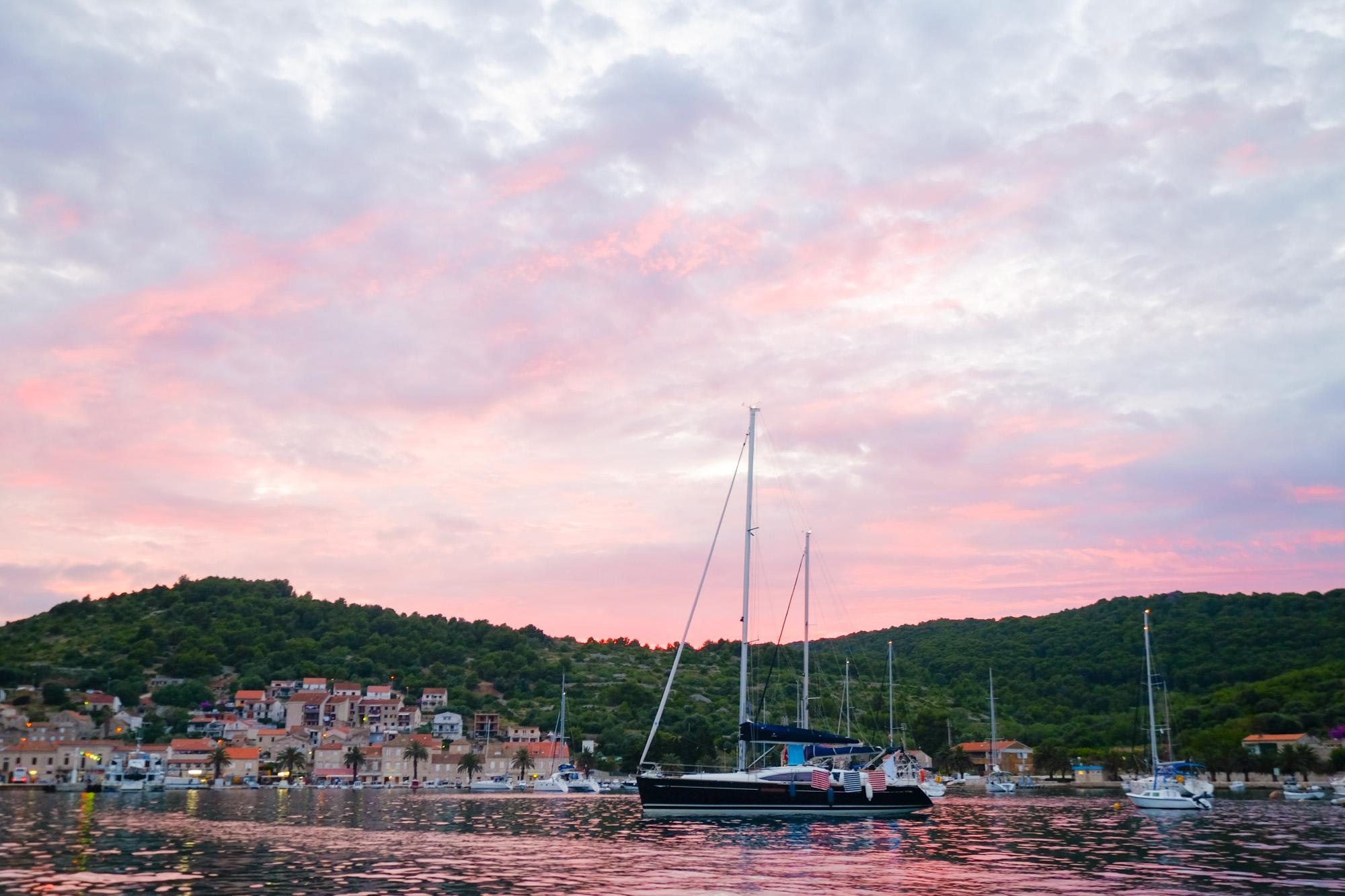 Sunset Sailing in Croatia
