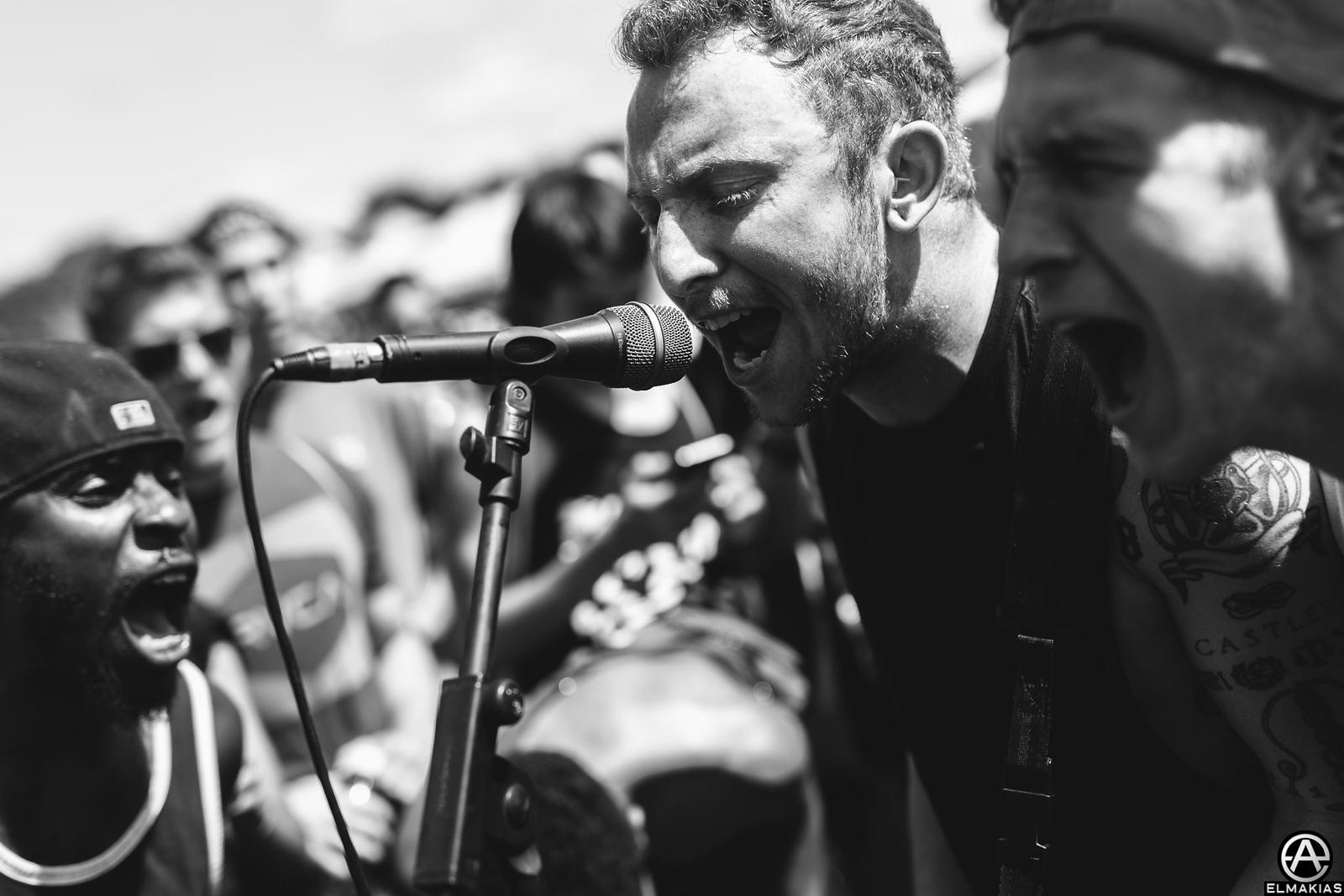 Mat Welsh of While She Sleeps at Vans Warped Tour 2015 by Adam Elmakias