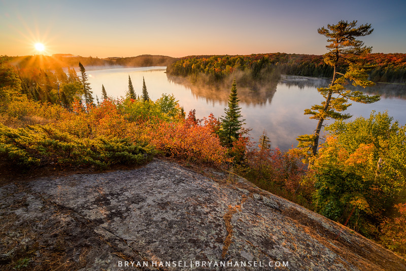Fall Colors over an Inland Lake