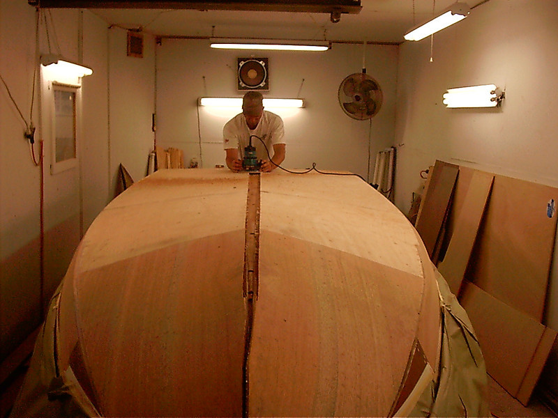 Routing area for keel cap.