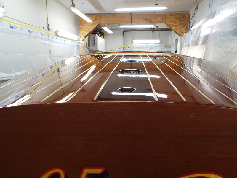 Close up of the rear deck.