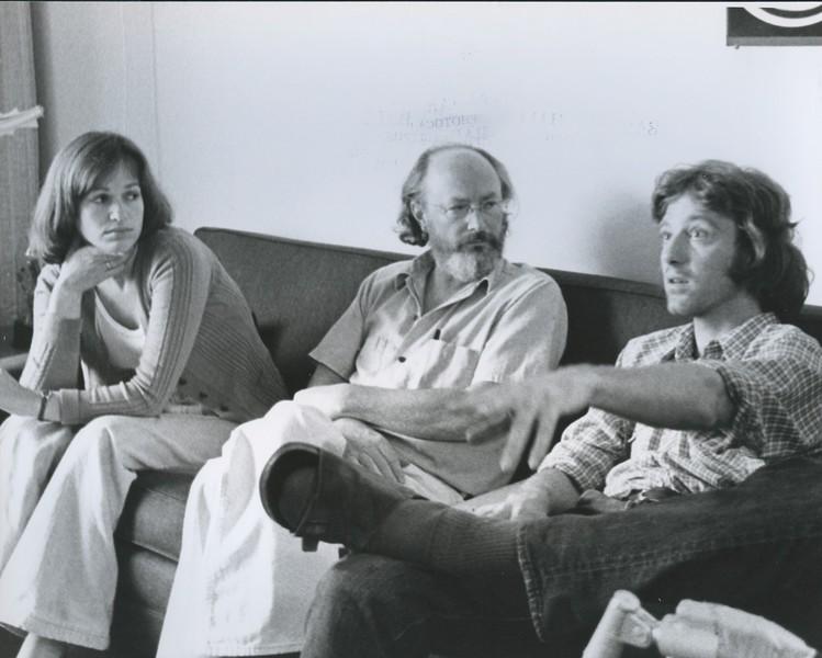 1976 - actress Jenny Mosiev, writer Don Carpenter, cameraman Dick Bowen.jpeg