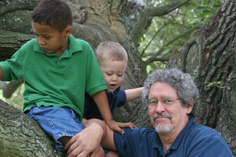 Granddad and boys at Zoo