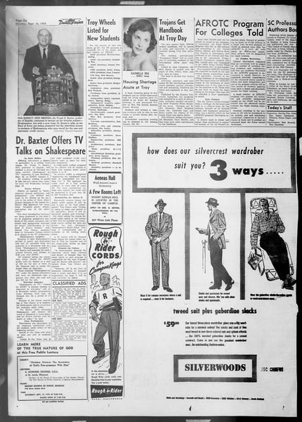 Daily Trojan, Vol. 45, No. 0, September 14, 1953