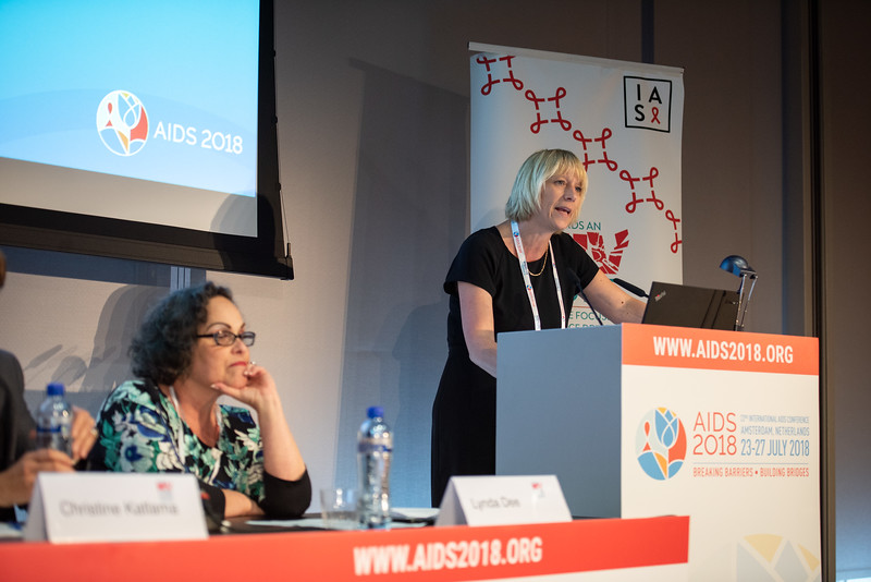 22nd International AIDS Conference (AIDS 2018) Amsterdam, Netherlands.   Copyright: Steve Forrest/Workers' Photos/ IAS  Photo shows: HIV Cure Research with the Community Workshop: What is New in the Clinic? Annemarie Wensing, University Medical Centre Utrecht, Netherlands, speaking.
