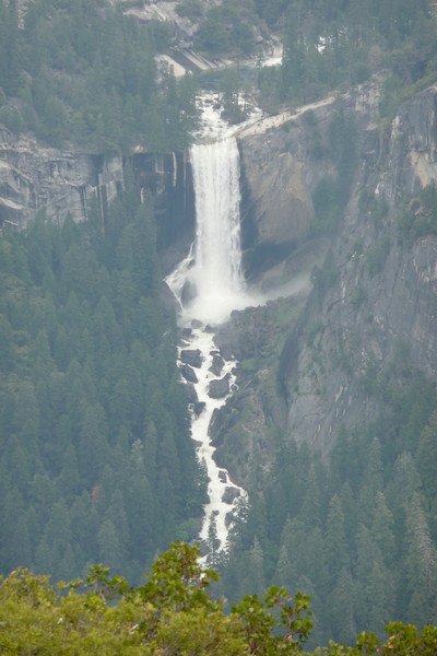 Vernal Fall seen from Glacier Point. Yosemite NP