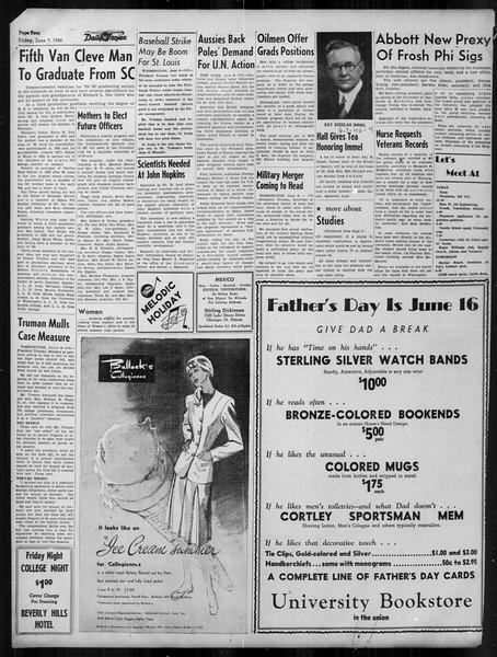 Daily Trojan, Vol. 37, No. 144, June 07, 1946