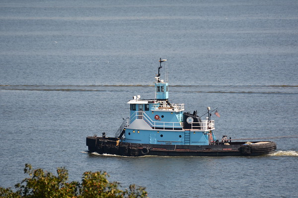 8/5/18 DonJon's Sarah Ann inbaund The tug's capacities are 33,350 of fuel oil, 500 gallons of engine oil, 500 gallons of slop oil, 3,585 of potable water, and 9,648 gallons of ballast.