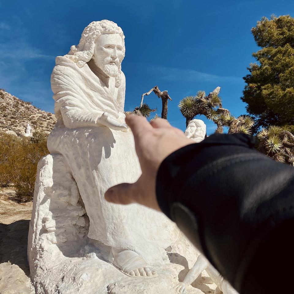 Christ Desert Park Yucca Valley California sculpture