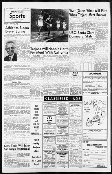 Daily Trojan, Vol. 55, No. 104, April 23, 1964