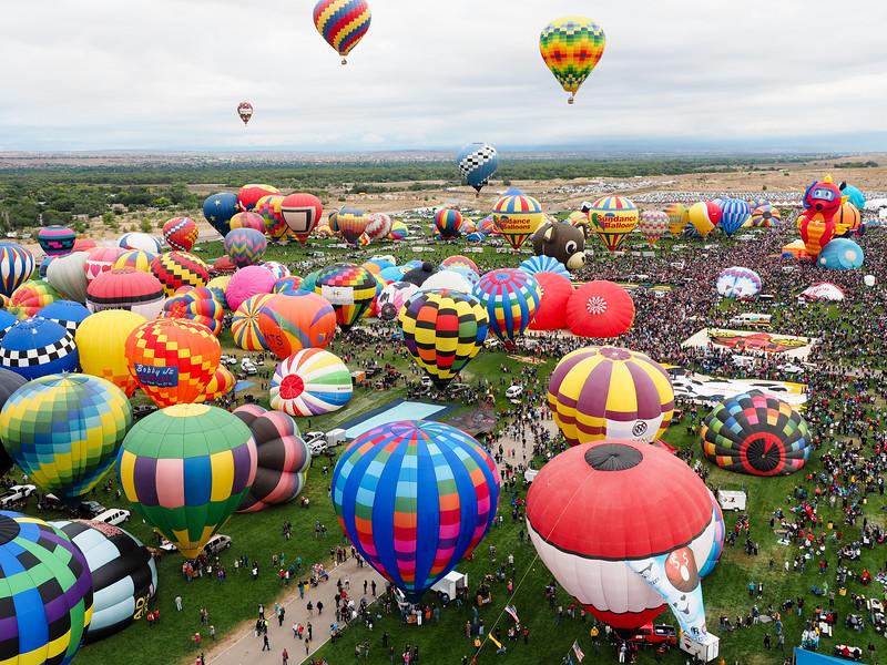 Up in the air at the Albuquerque International Balloon Fiesta