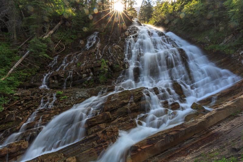 Sun and Spray @ Lower Bertha Falls