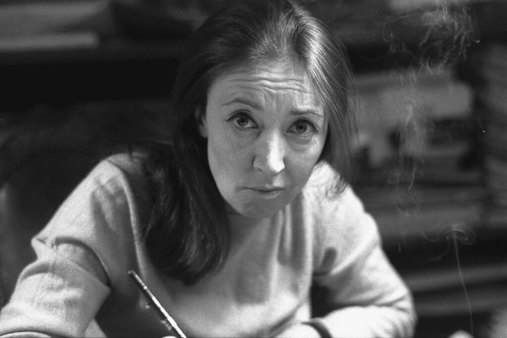 . Italian veteran journalist and writer Oriana Fallaci in Los Angeles on April 4, 1977. (AP Photo/Gianangelo Pistoia)