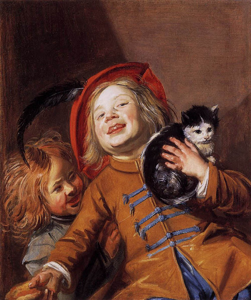 1629 Judith Jans Leyster Laughing Children With A Cat oil on canvas 61 x 52 cm Noortman, Maastricht, The Netherlands.jpg