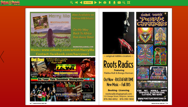 Lujan Reggae - Tour Flyer and Home page