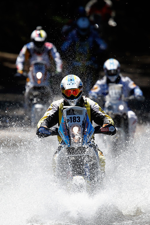 . David Tieppo of Argentina for Guerrero Team competes on Day 1 of the Dakar Rally 2014 on January 5, 2014 in Santa Rosa de Calamuchita, Argentina.  (Photo by Dean Mouhtaropoulos/Getty Images)
