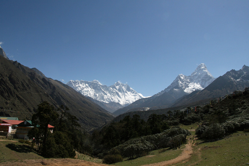 One of the last views of Everest, Lhotse & Ama Dablam together
