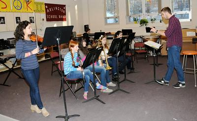 2013 AMHS Pep Band Practice-Instrumental Music pho