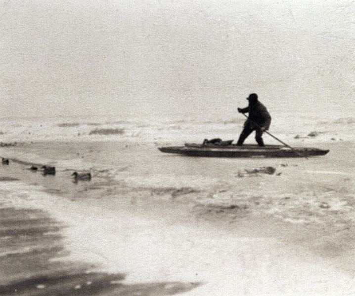 Uncle Norm duck hunting in his Punt Boat.JPG