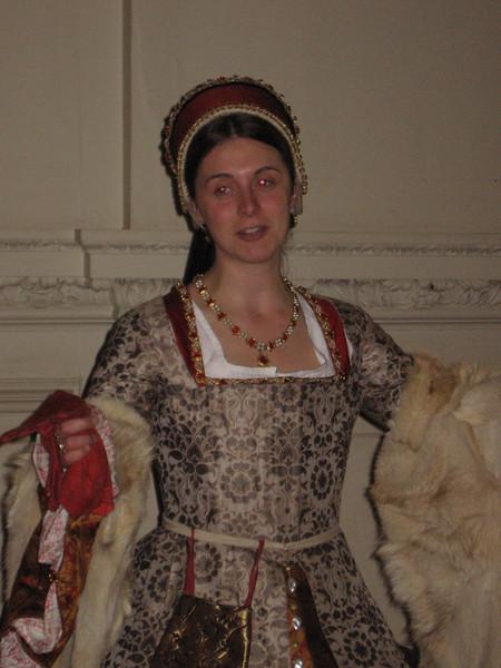 Actress portraying Catherine Parr, Hampton Court Palace