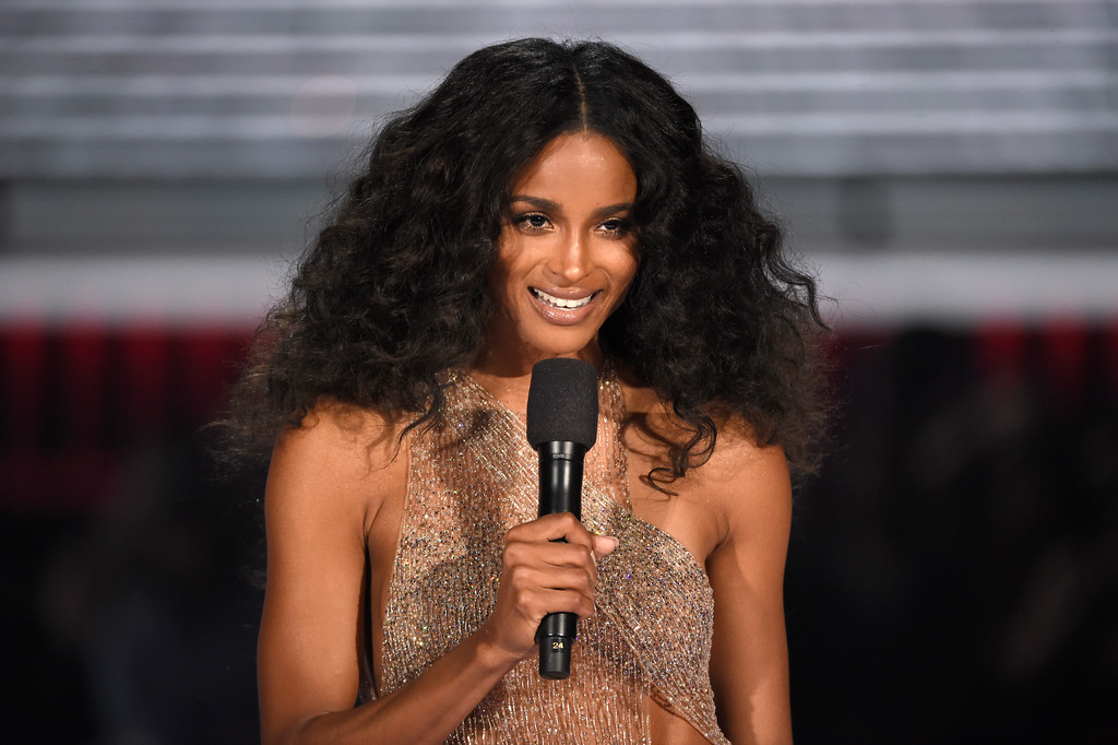 . Ciara speaks at the Billboard Music Awards at the MGM Grand Garden Arena on Sunday, May 20, 2018, in Las Vegas. (Photo by Chris Pizzello/Invision/AP)