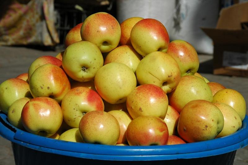 Shah Mansur Bazaar, Apples - Dushanbe, Tajikistan