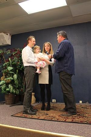 Baby Dedication November 16, 2014