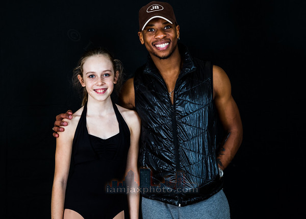 James Boyd with dancers