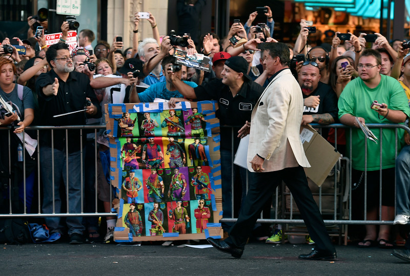". Actor Sylvester Stallone attends Lionsgate Films\' ""The Expendables 3\"" premiere at TCL Chinese Theatre on August 11, 2014 in Hollywood, California.  (Photo by Frazer Harrison/Getty Images)"
