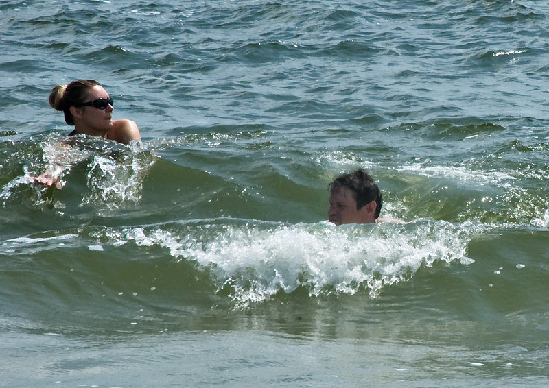 Water felt perfect until Annie got stung by a jelly fish.