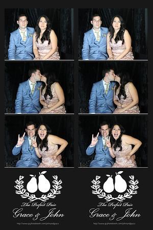 Grace and John Wedding Photo Booth Prints