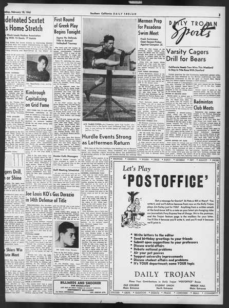 Daily Trojan, Vol. 32, No. 83, February 18, 1941