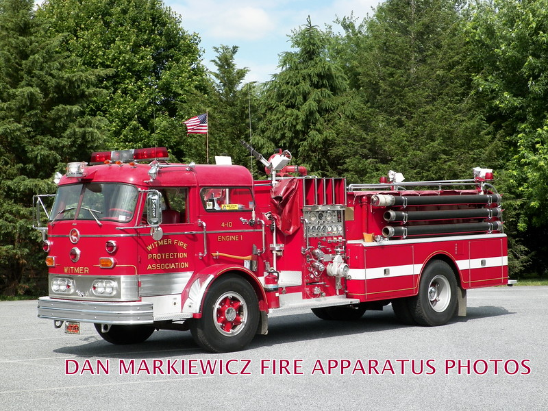 WITMER FIRE PROTECTIVE ASSN. ANTIQUE 1964 MACK C PUMPER