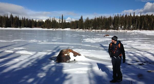 2016 12 20 Lewis-city of Boulder award-snowshoe to Red Rock Lake