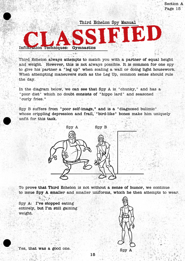 Splinter Cell Chaos Theory Spy Manual Page 3
