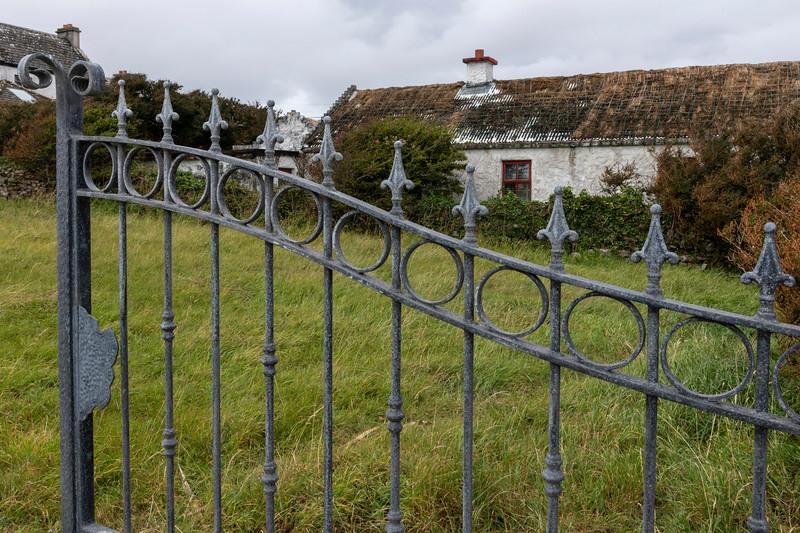 Entrance gate of an old castle, Kilronan, Inishmore, Aran Islands, County Galway, Ireland
