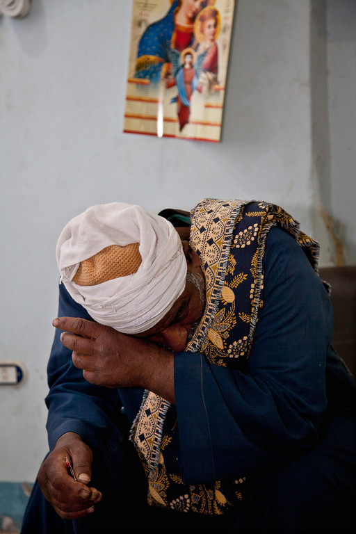 . In this Wednesday, March 27, 2013 photo, Christian farmer Ishaq Aziz wipes away tears as he tells The Associated Press of the mysterious disappearance of his daughter, 17-year-old school girl, Nirmeen, who went missing on Valentine\'s Day and had not been heard of or seen since, in the Minya town of Matai, Egypt. A top official at the Interior Ministry, which is in charge of the police, said Minya saw at least 150 cases of Christian kidnappings in the two years since Mubarak\'s ouster, of which 37 took place recently. (AP Photo/Thomas Hartwell)