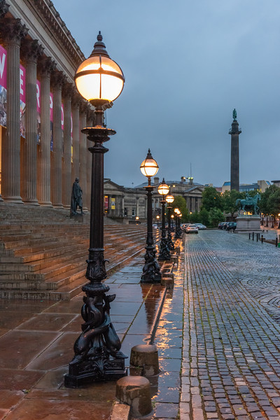 Dolphin Lamp Posts, St George's Hall Plateau, Liverpool