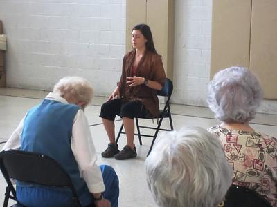 Amanda Carson Chair Yoga, Spa Day, Salvation Army (5-22-2013)