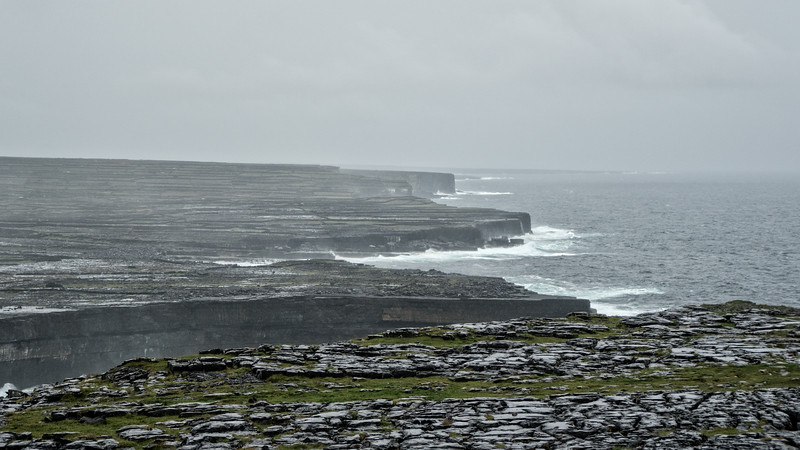 View of coast from Dun Aengus, Inis Mor, Aran Isles, Ireland
