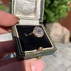 1.97ctw Antique Cluster Ring, GIA G SI2 65