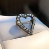 Victorian Rose Cut Witches Heart Pin 4
