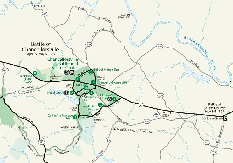 Fredericksburg & Spotsylvania National Military Park - Chancellorsville Unit