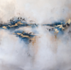 Indigo Light-Rei, 40x40 on canvas