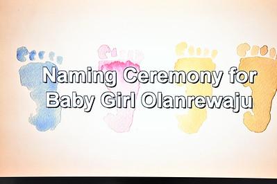 Olanrewajus's Naming Ceremony