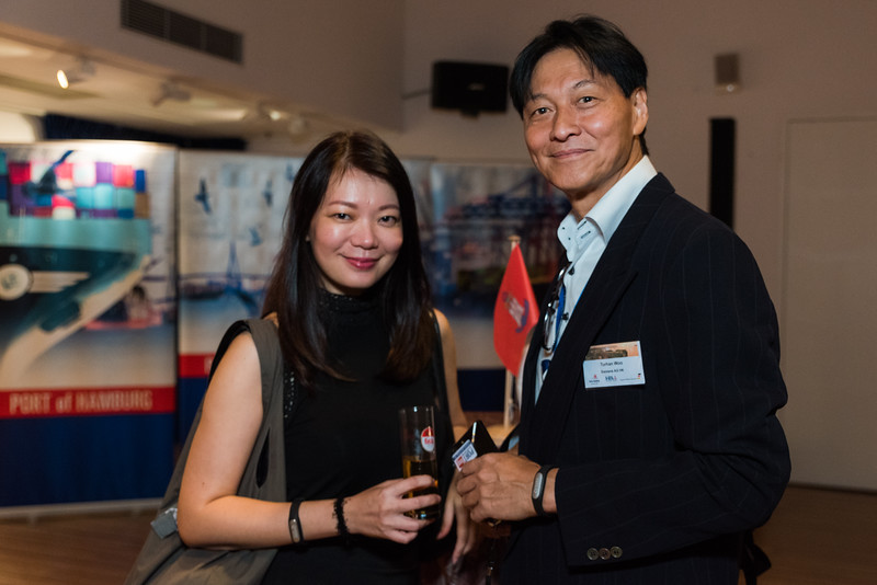Port of Hamburg Evening at the Maritime Museum, Hong Kong. 14th October 2016